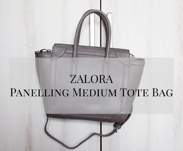 ZALORA Panelling Medium Tote Bag