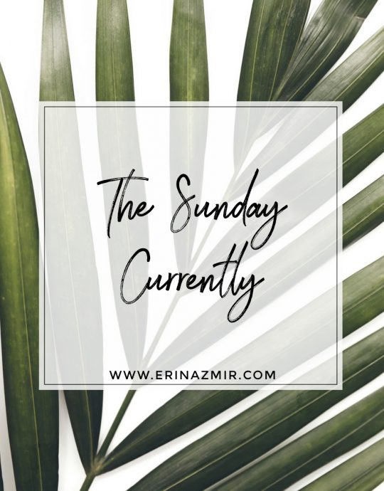 The Sunday Currently: Vol. 1